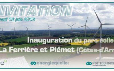 Inauguration du Parc Eolien de La Ferrière et Plémet